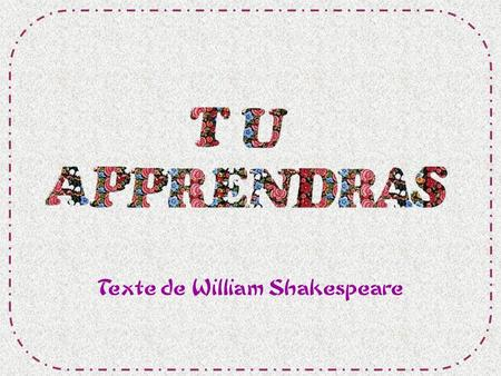 Texte de William Shakespeare