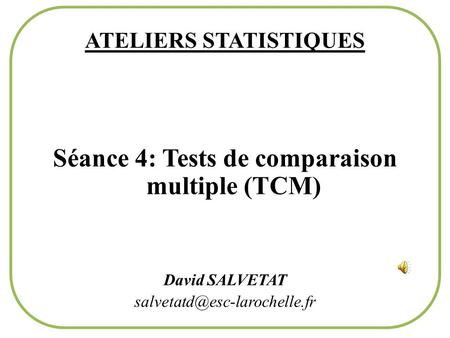 ATELIERS STATISTIQUES
