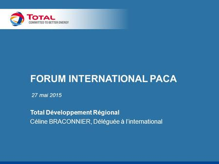 FORUM INTERNATIONAL PACA