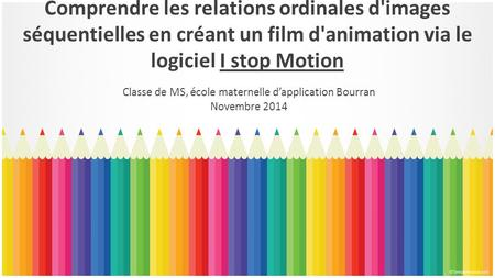Classe de MS, école maternelle d'application Bourran Novembre 2014