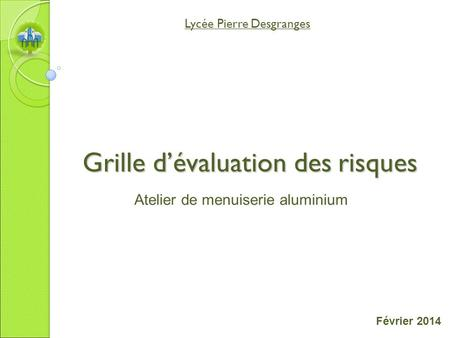 Atelier d usinage perceuse colonne ppt video online - Grille d evaluation des risques psychosociaux ...