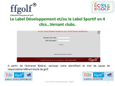 Commission Jeune Nationale - ffgolf