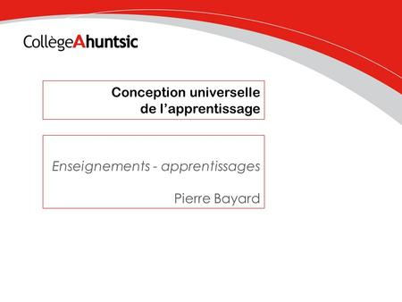 Conception universelle de l'apprentissage