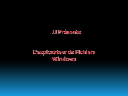 L'explorateur de Fichiers Windows