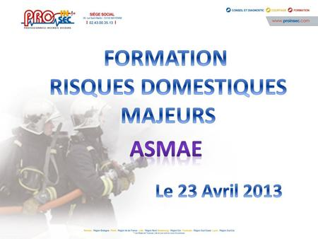 FORMATION RISQUES DOMESTIQUES MAJEURS ASMAE