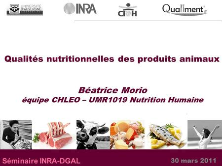 équipe CHLEO – UMR1019 Nutrition Humaine