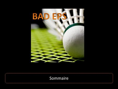 BAD EPS Sommaire.