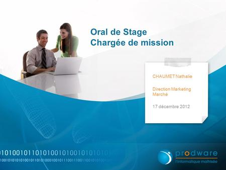 Oral de Stage Chargée de mission