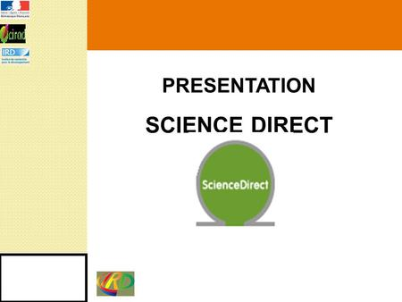 PRESENTATION SCIENCE DIRECT.