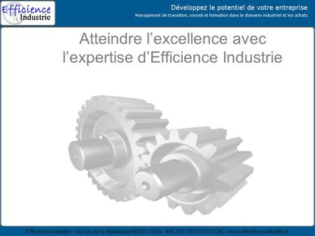Atteindre l'excellence avec l'expertise d'Efficience Industrie