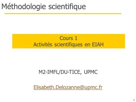 Méthodologie scientifique