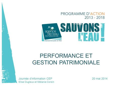 PERFORMANCE ET GESTION PATRIMONIALE