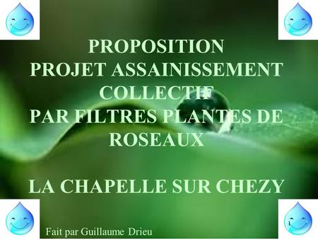 EXEMPLE ASSAINISSEMENT NATUREL COLLECTIF