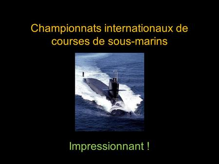 Championnats internationaux de courses de sous-marins