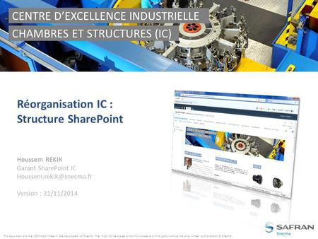 CENTRE D'EXCELLENCE INDUSTRIELLE CHAMBRES ET STRUCTURES (IC)