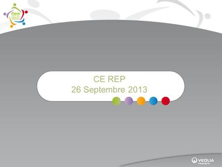 CE REP 26 Septembre 2013. Bilan Formation Continue 2012.