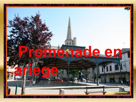 Promenade en ariege Defilement automatique Halle aux grains de Foix.