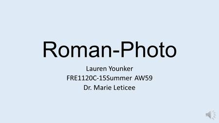 Roman-Photo Lauren Younker FRE1120C-15Summer AW59 Dr. Marie Leticee.