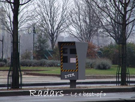 EFER Radars - Le « best-of ».