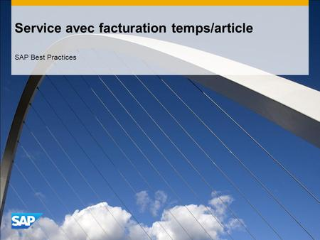 Service avec facturation temps/article SAP Best Practices.