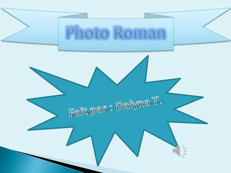 Photo Roman Fait par : Dalyna T..