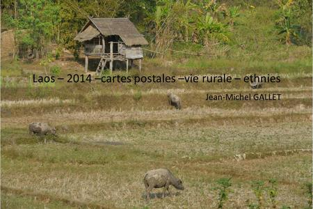 Laos – 2014 –cartes postales –vie rurale – ethnies Jean-Michel GALLET