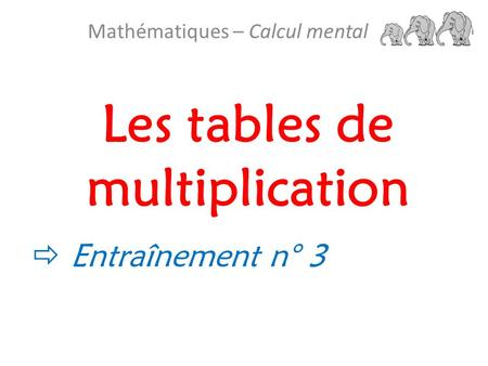 Les tables de multiplication 50 op rations en 5 minutes - Entrainement tables de multiplication ...