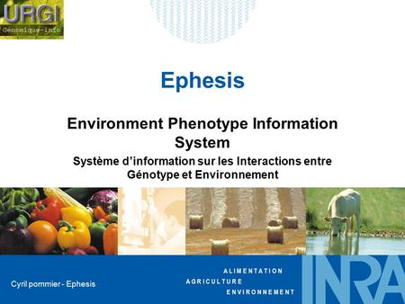 Environment Phenotype Information System