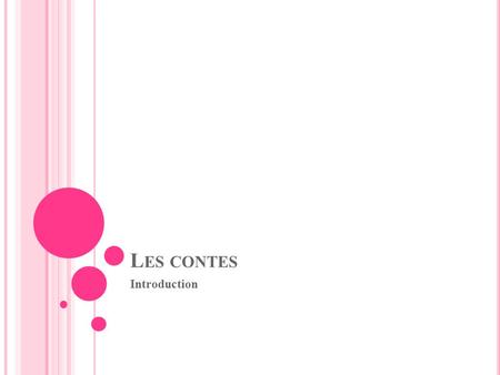 Les contes Introduction.