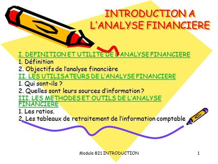 INTRODUCTION A L'ANALYSE FINANCIERE