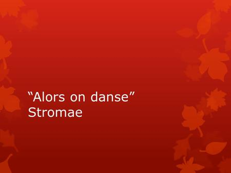 """Alors on danse"" Stromae. Le journal d'échauffement  9. le 16 octobre  Le but: Je peux faire un appel de téléphone.  The man is in front of the museum."