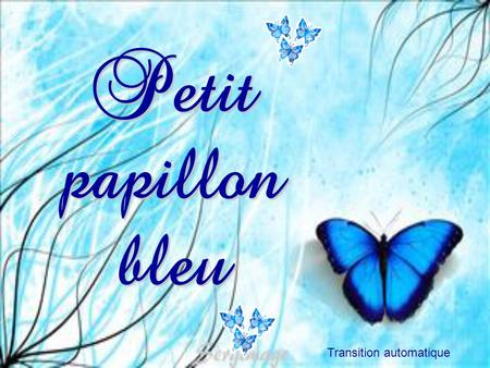 Petit papillon bleu Sergimage Transition automatique.