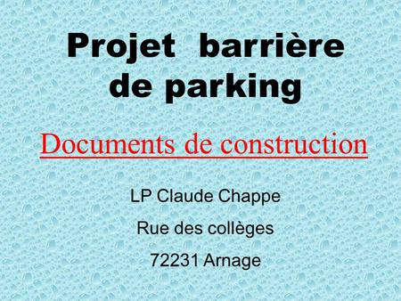 Documents de construction