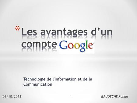 Technologie de l'Information et de la Communication 1.