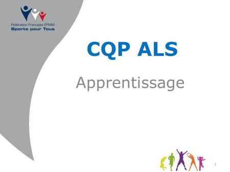 CQP ALS Apprentissage.