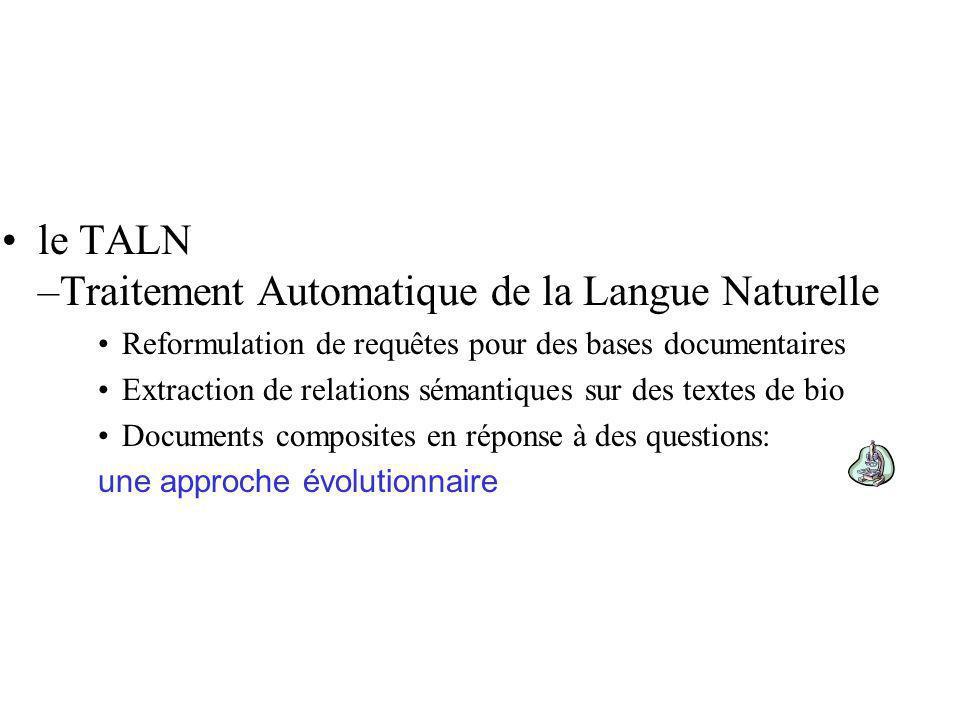 Le Problème Système de recherche dinformation Ensemble de documents Requête La recherche des parties pertinentes des documents est réalisée par lutilisateur