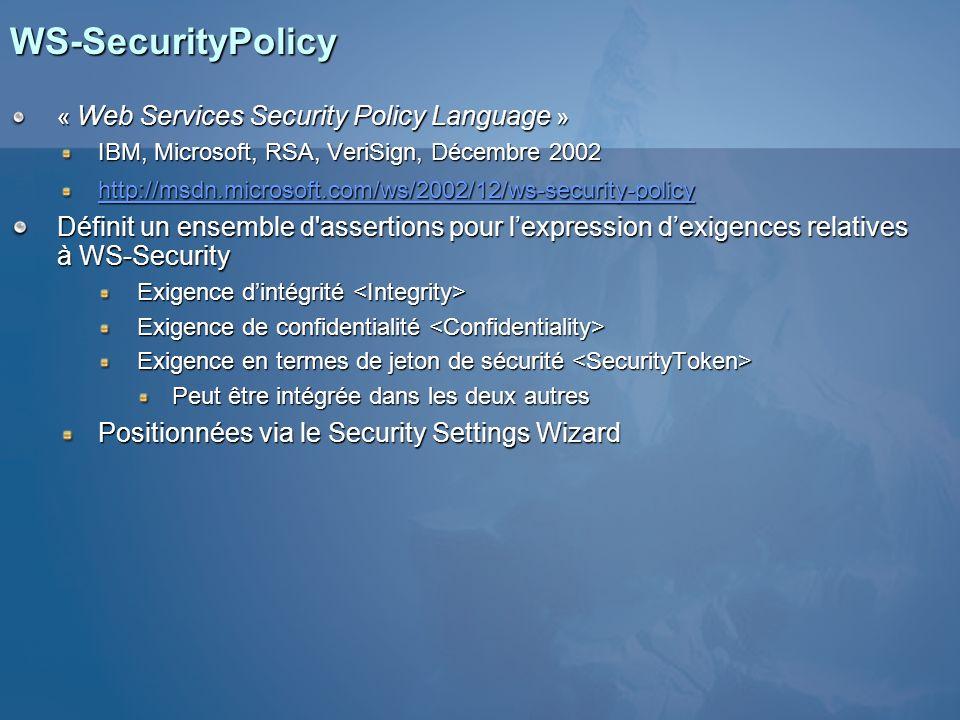 Fichier de politique X509v3 wsp:Body() Politique