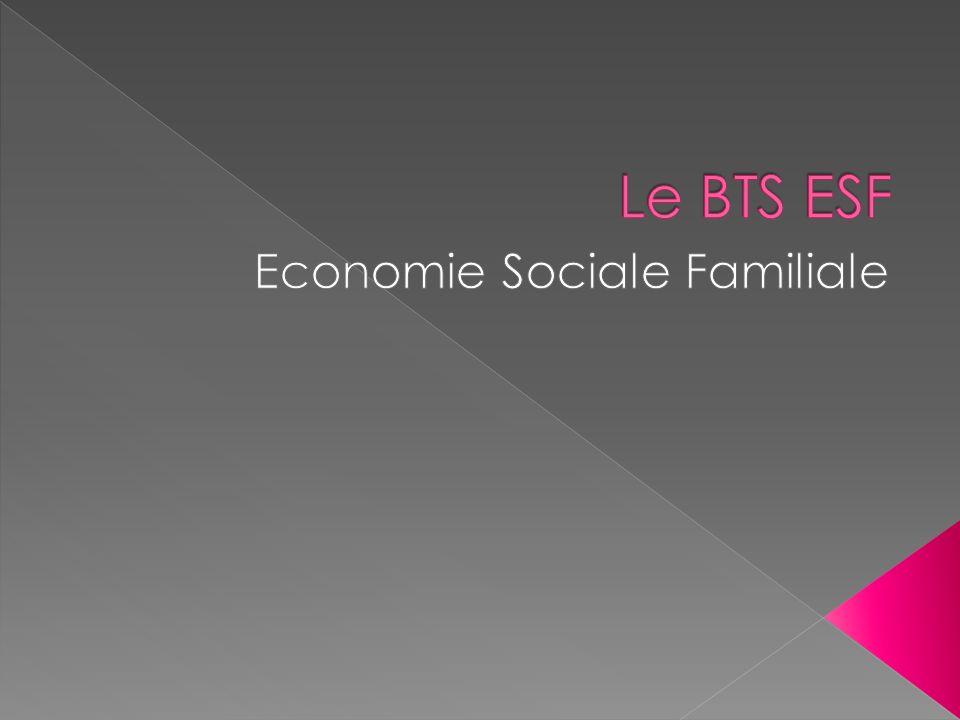 Introduction Le BTS ESF : enseignements, matières, stages, poursuites détudes Le TESF La 3 e année en ESF Le CESF Situation des étudiants de 3 e année en 2008-09.