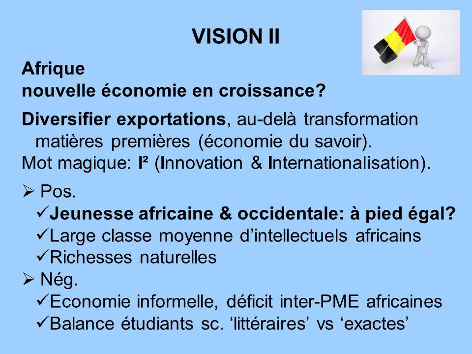 VISION III 100 jeunes cadres & hauts diplômés effectuent un travail temporaire / stage professionnel dun an dans des entreprises belges Ils retournent ensuite au Sénégal.Ils retournent ensuite au Sénégal.