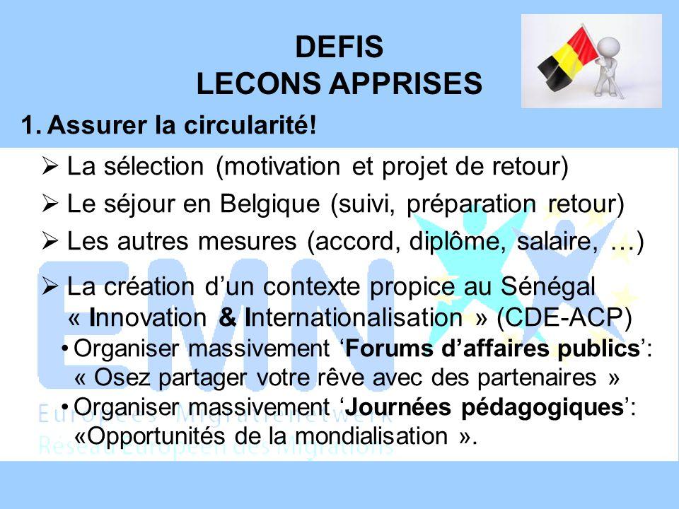 DEFIS LECONS APPRISES 2.Motiver les candidats souhaités.