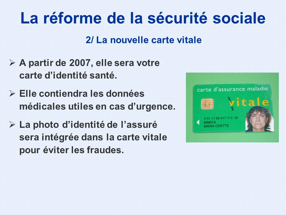 La réforme de la sécurité sociale 3/ Faire chacun un effort Une participation de 1 euro est déduite de vos remboursements depuis le 1er janvier 2005.