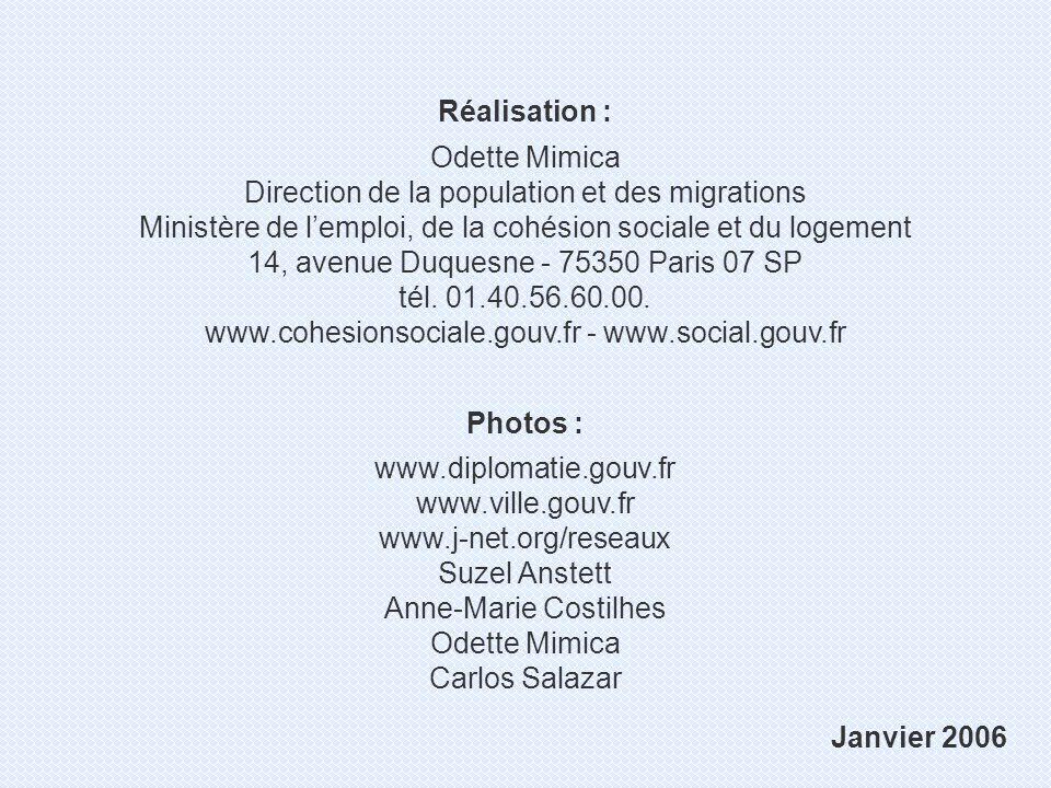Ministère de lemploi, de la cohésion sociale et du logement Direction de la population et des migrations Vivre en France Vie pratique