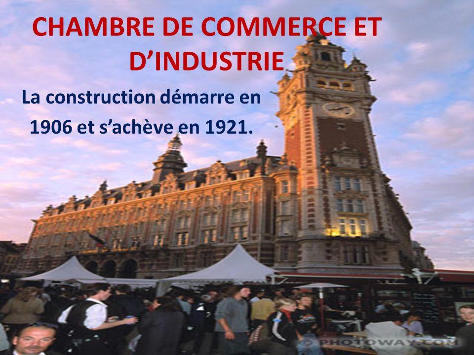 * Le projet de la réalisation de la nouvelle bourse de Lille découla du vœu de la chambre de commerce de Lille « de procurer aux négociants et courtiers de la place de plus grandes facilités pour leurs opérations ».