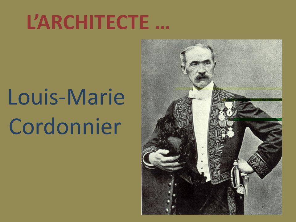 Larchitecte de ce bâtiment, Louis-Marie Cordonnier est né a Haubourdin le 7 juillet 1854 et est mort en 1940.