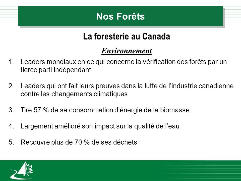 Nos Forêts La foresterie du Nouveau-Brunswick q Les terres publiques appartenues par les citoyens du Nouveau-Brunswick q 50 % de toute la surface boisée (3 millions dhectares)