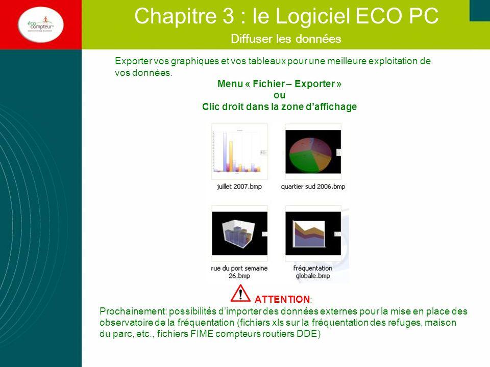 Fonctions avancées Chapitre 3 : le Logiciel ECO PC Ces quatre fonctions ne rentrent pas dans un cadre normal dutilisation et doivent être utilisées avec précaution.
