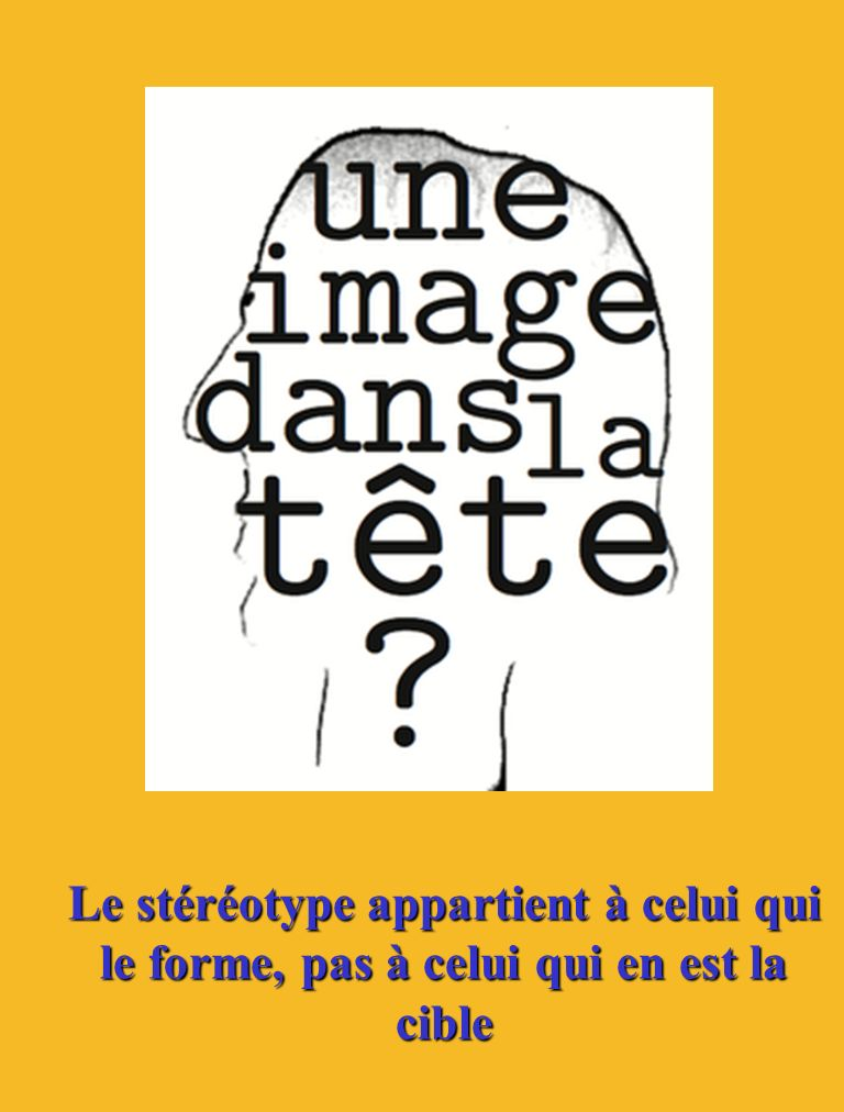 Exemple… …Stéréotype?.