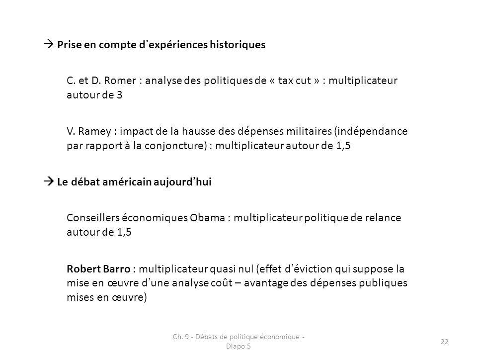Ch. 9 - Débats de politique économique - Diapo 5 23