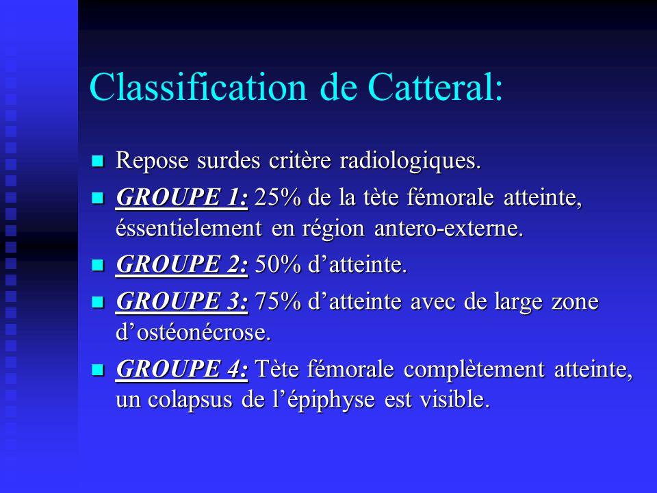 Diagnostic différentiel: Ancienne disjonction épiphysaire du fémur proximal de type Salter Harris I.