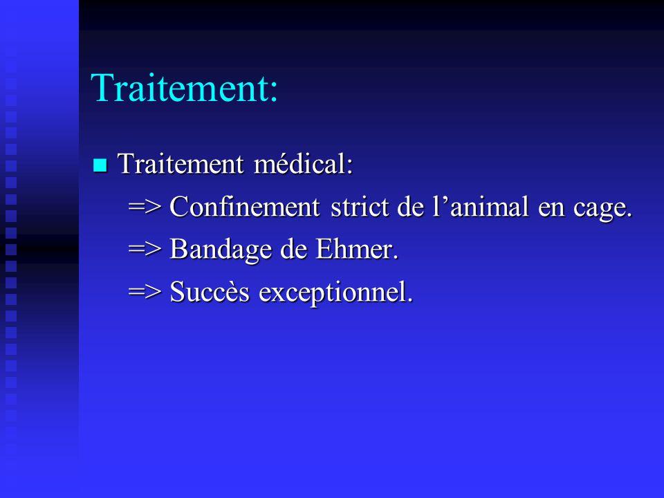 Traitement: Traitement Chirurgical: Traitement Chirurgical: => Excision arthroplastie coxo-fémorale.
